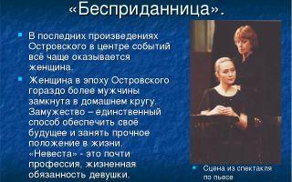"""Анализ пьесы """"бесприданница"""" островского: суть, смысл, тема и идея произведения"""