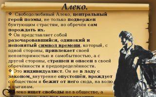"""Образ и характеристика алеко в поэме """"цыганы"""" пушкина: описание в цитатах"""