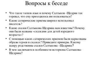 Эзопов язык в сказках салтыкова-щедрина, примеры из произведений