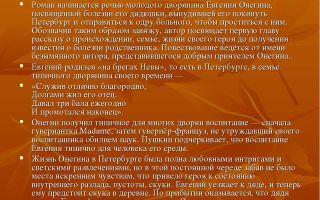 """Краткое содержание романа """"евгений онегин"""" пушкина по главам: краткий пересказ"""