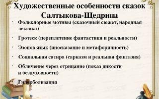Особенности языка сказок салтыкова-щедрина: элементы народных сказок, фольклора