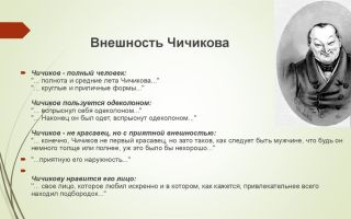 """Образ чичикова в поэме """"мертвые души"""": описание внешности и характера в цитатах"""