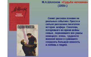 """Краткое содержание рассказа """"судьба человека"""" шолохова: краткий пересказ сюжета"""