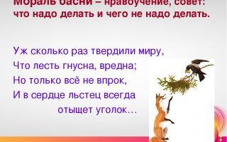 """Мораль басни """"ворона"""" крылова (анализ, суть, смысл)"""