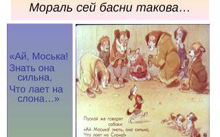 """Мораль басни """"слон в случае"""" крылова (анализ, суть, смысл)"""