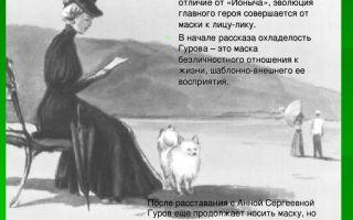 "Образ и характеристика гурова в рассказе ""дама с собачкой"" чехова"
