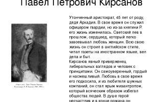 """Павел петрович кирсанов в романе """"отцы и дети"""": биография и история жизни"""
