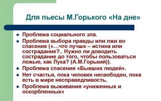 """Критика о пьесе """"на дне"""" горького: анализ, отзывы современников"""