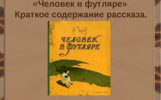 """Краткое содержание рассказа """"человек в футляре"""" чехова: краткий пересказ, план произведения"""