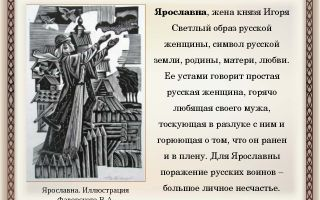 """Образ и характеристика ярославны в """"слове о полку игореве"""": описание в цитатах для сочинения"""