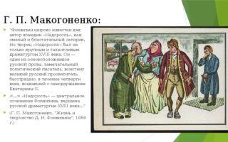 """Критика о комедии """"недоросль"""" фонвизина, отзывы критиков и писателей"""