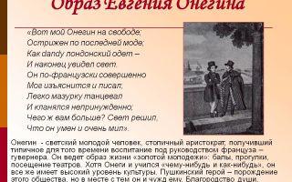 """Образ евгения онегина в романе """"евгений онегин"""" пушкина: описание в цитатах"""