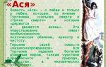 """Краткое содержание повести """"ася"""" тургенева по главам"""