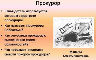 """Прокурор в поэме """"мертвые души"""": образ, характеристика, описание (смерть прокурора)"""