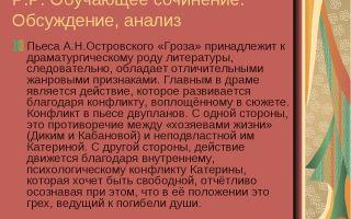 """Женские образы в пьесе """"гроза"""" островского: материалы для сочинения по драме"""
