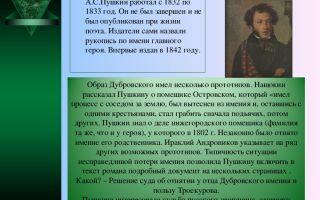 """История создания романа """"дубровский"""" пушкина: прототипы героев"""