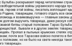 """Краткое содержание повести """"тарас бульба"""" гоголя по главам"""