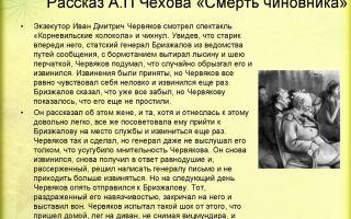 """Образ и характеристика червякова в рассказе """"смерть чиновника"""" чехова"""