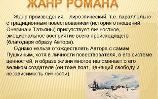 "Жанр произведения ""евгений онегин"" пушкина: определение жанра"