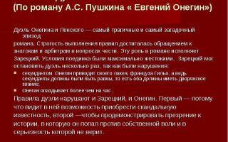 """Дуэль евгения онегина и владимира ленского в романе """"евгений онегин"""": описание, анализ причин"""
