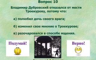"""Вопросы с ответами по роману """"дубровский"""" пушкина, анализ произведения"""