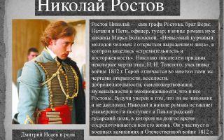 """Служба николая ростова в романе """"война и мир"""": описание карьеры"""