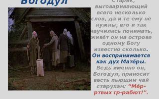 """Богодул в повести """"прощание с матерой"""" распутина: характеристика в цитатах"""
