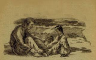 """Иллюстрации к рассказу """"кавказский пленник"""" л. н. толстого: художники ю. петров, т. звонарева, а. комаров (картинки, рисунки)"""