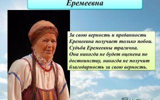 """Еремеевна в комедии """"недоросль"""": образ, характеристика, описание в цитатах"""
