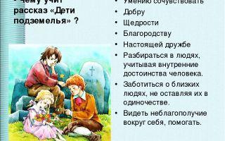 """Краткое содержание рассказа """"дети подземелья"""": пересказ сюжета, рассказ в сокращении"""