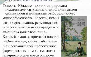 """Краткое содержание повести """"юность"""" толстого по главам (краткий пересказ)"""