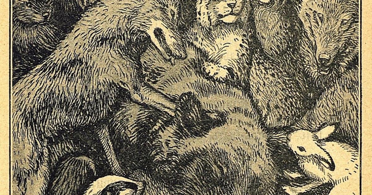 Крылов и а заяц на ловле